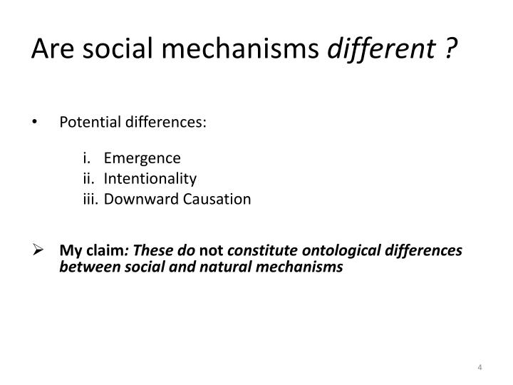 Are social mechanisms