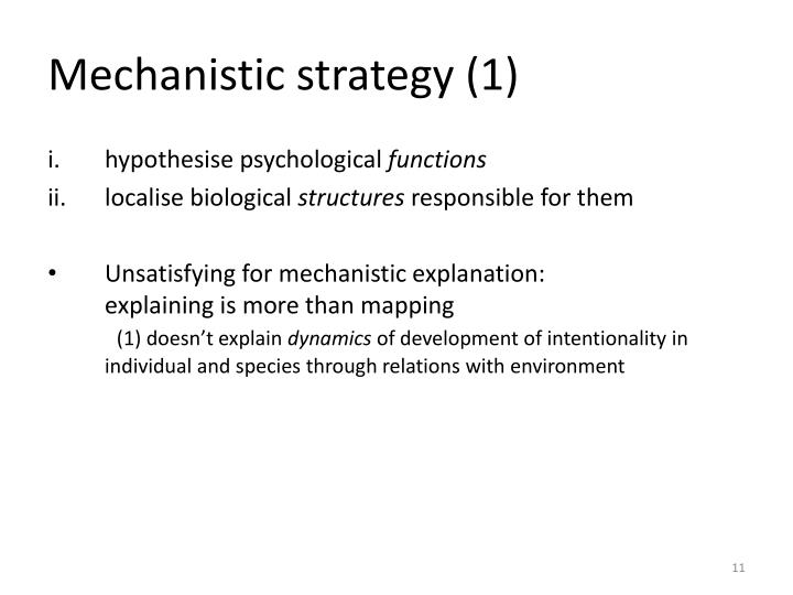 Mechanistic strategy (1)