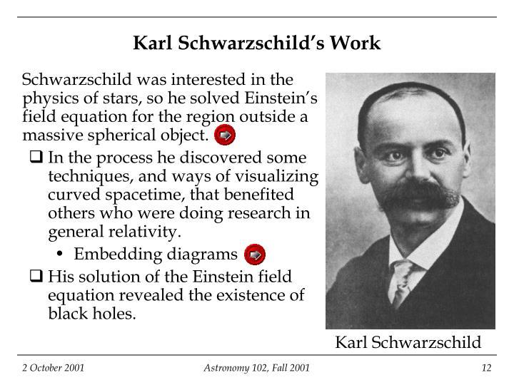 Karl Schwarzschild's Work