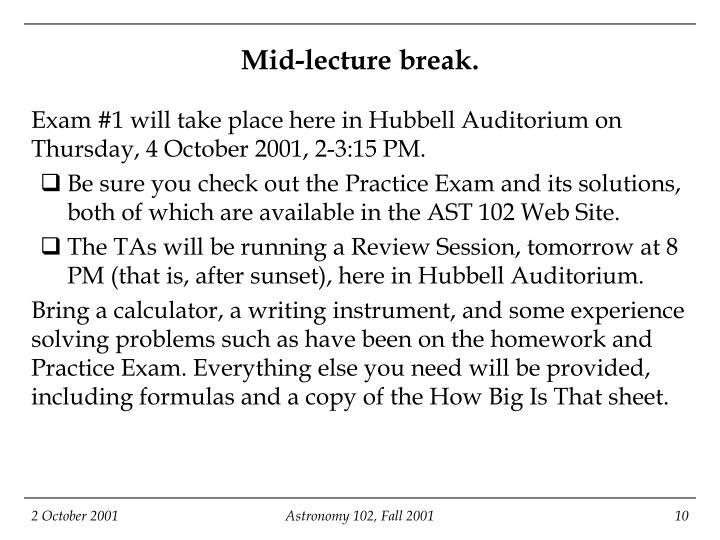 Mid-lecture break.