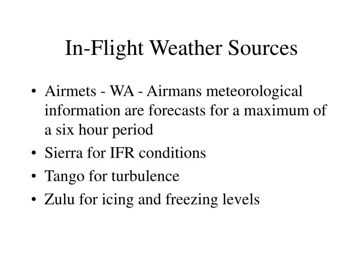 In-Flight Weather Sources