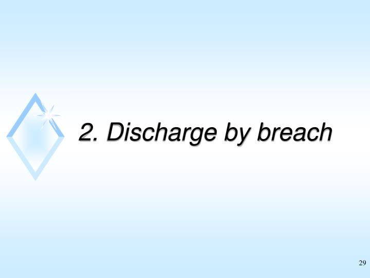 2. Discharge by breach