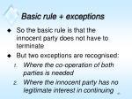 basic rule exceptions