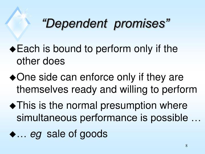 """Dependent  promises"""