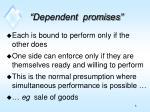 dependent promises