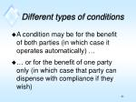 different types of conditions2