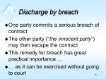 discharge by breach