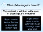 effect of discharge for breach
