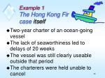 example 1 the hong kong fir case itself
