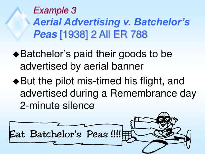 Batchelor's paid their goods to be advertised by aerial banner