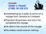 example cutter v powell 1795 101 er 573