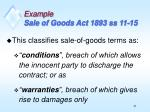 example sale of goods act 1893 ss 11 15