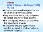 example white carter v mcgregor 1962 ac 413