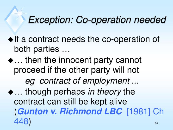 Exception: Co-operation needed