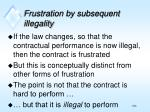 frustration by subsequent illegality