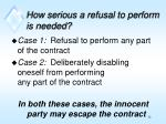 how serious a refusal to perform is needed