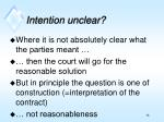 intention unclear
