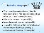 is krell v henry right
