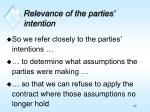 relevance of the parties intention