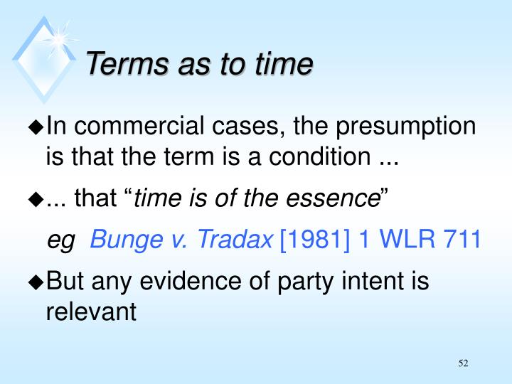 Terms as to time