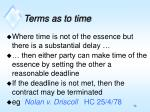 terms as to time2