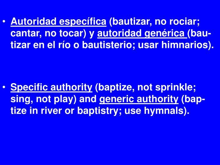 Autoridad específica