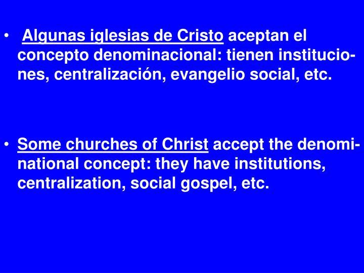 Algunas iglesias de Cristo