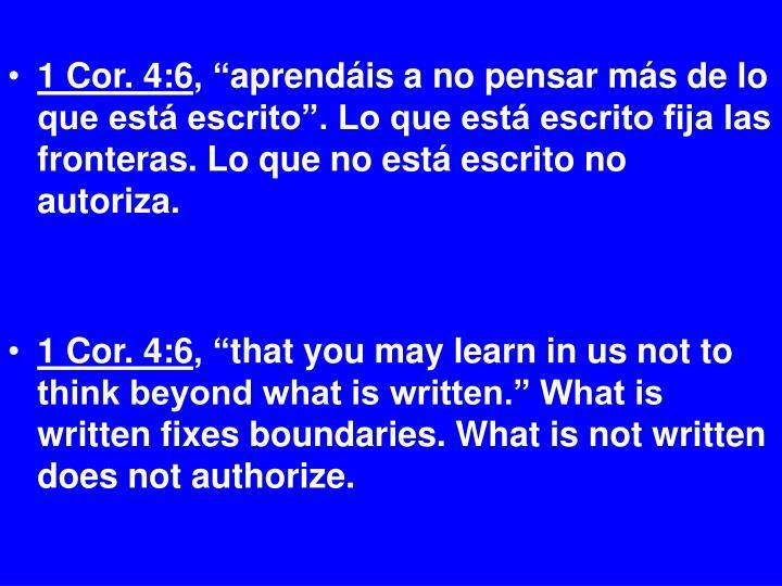 1 Cor. 4:6