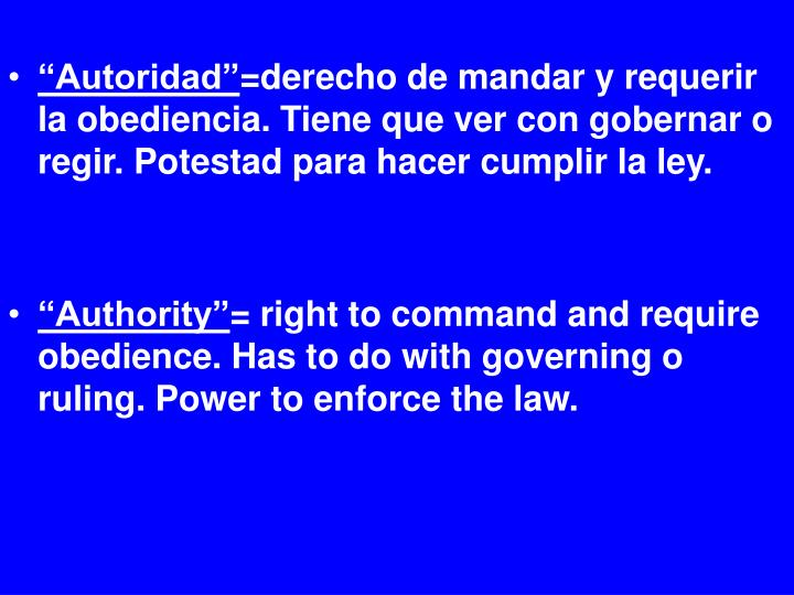 """Autoridad"""