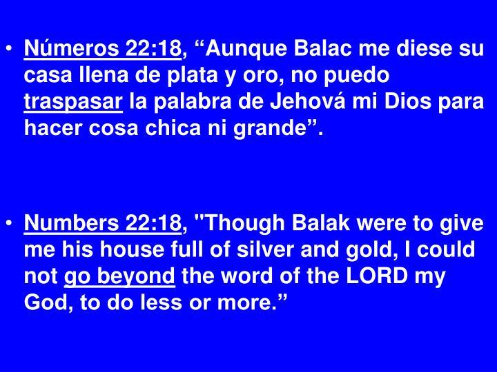 Números 22:18