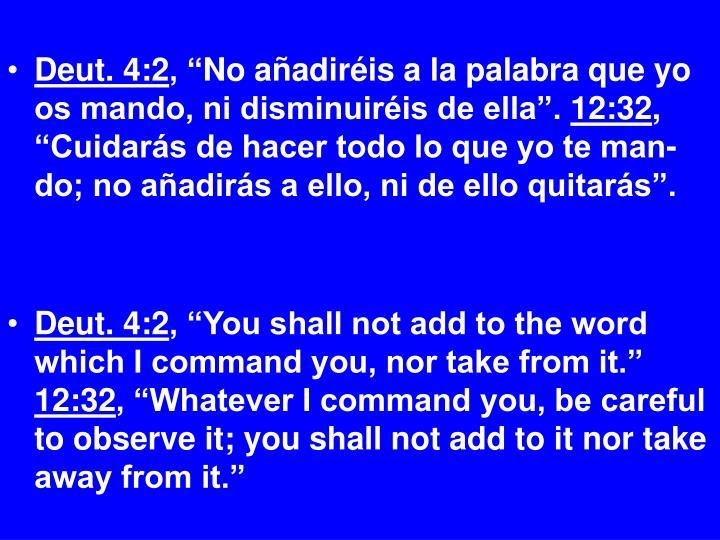 Deut. 4:2