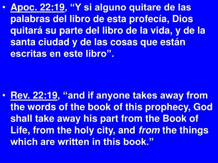 Apoc. 22:19