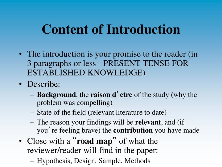 Content of Introduction