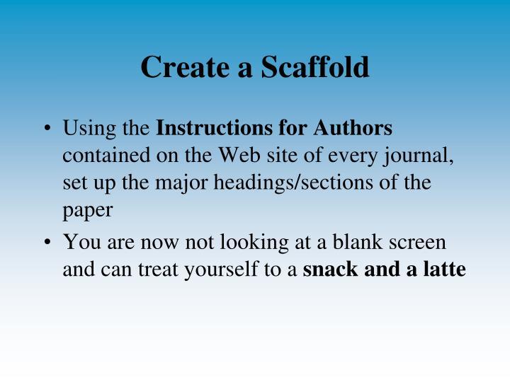 Create a Scaffold