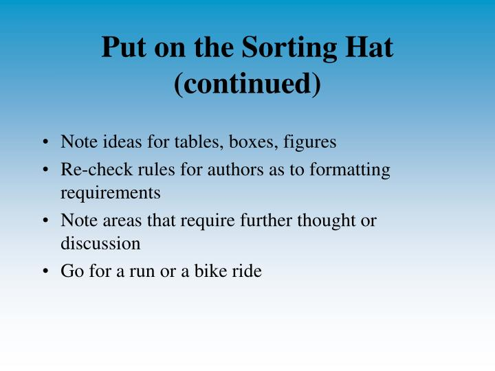 Put on the Sorting Hat