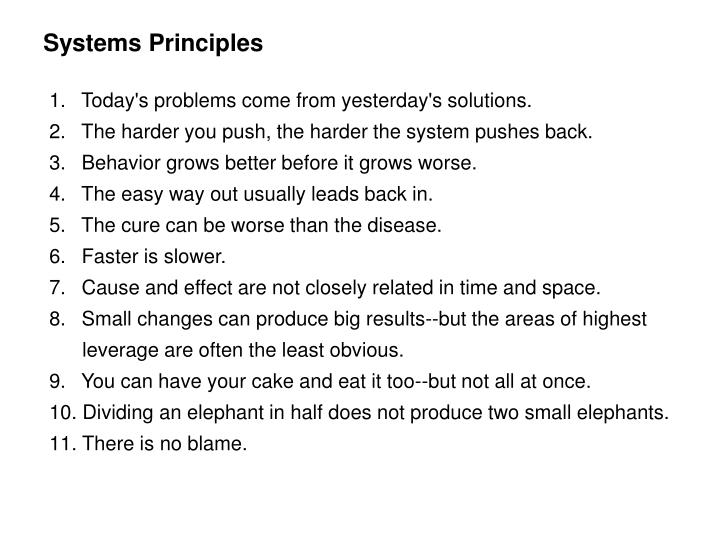 Systems Principles