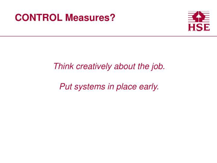 CONTROL Measures?