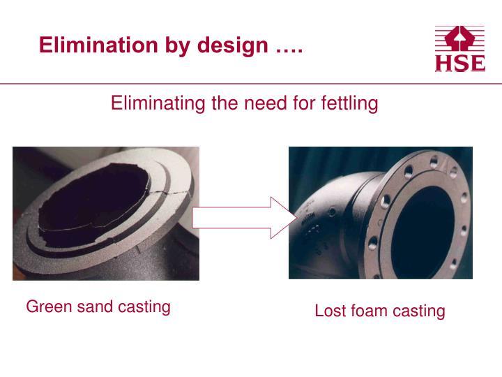 Elimination by design ….