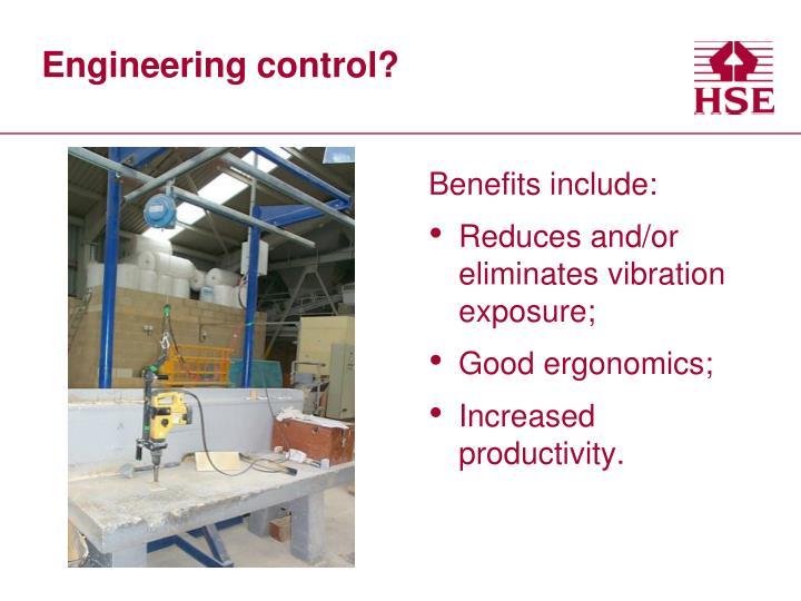 Engineering control?