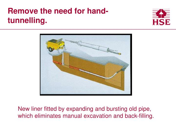 Remove the need for hand-tunnelling.
