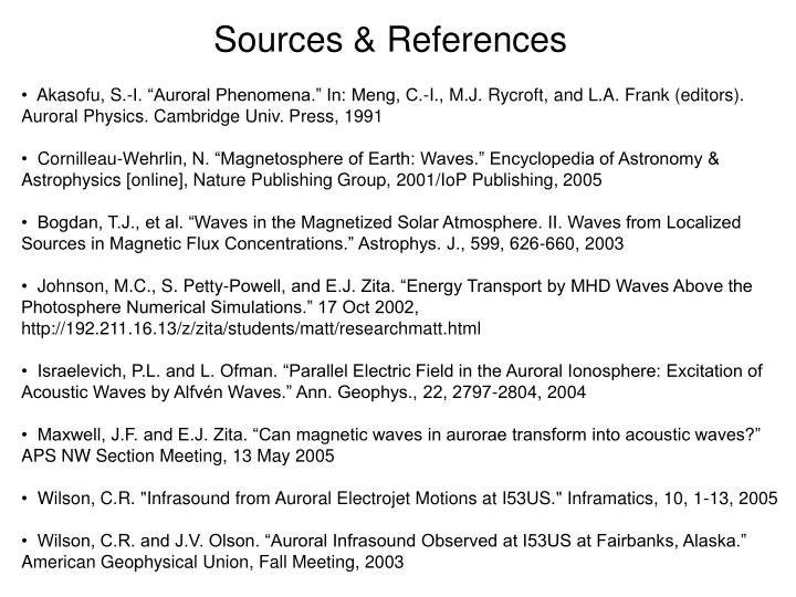 Sources & References