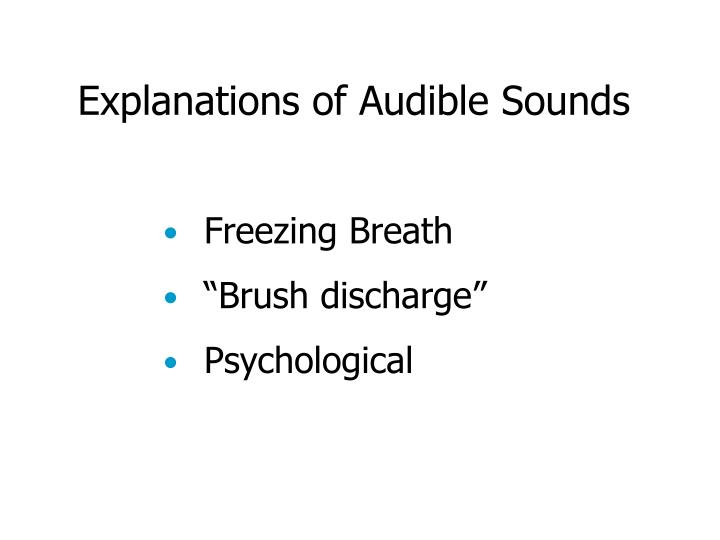 Explanations of Audible Sounds