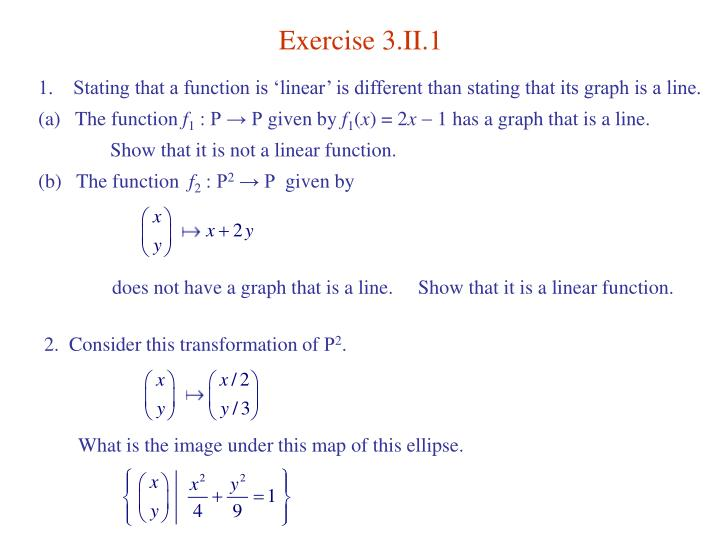 Exercise 3.II.1