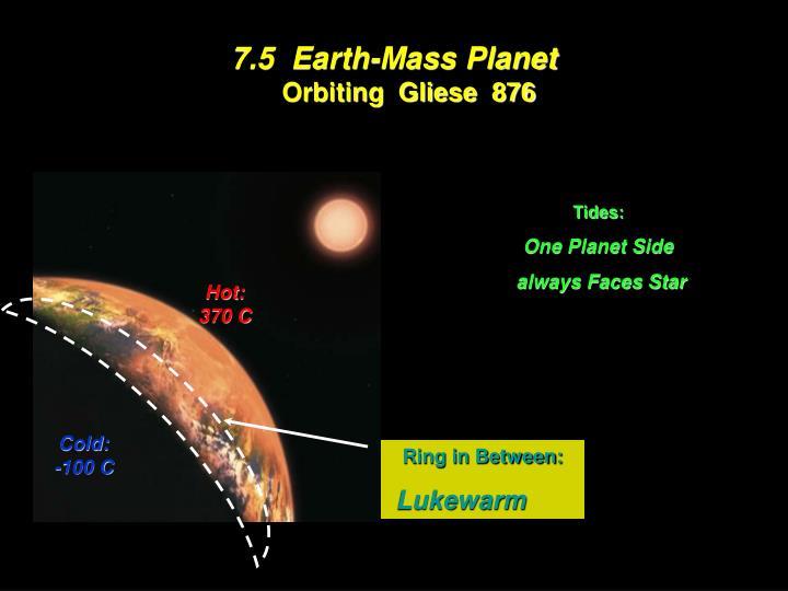 7.5  Earth-Mass Planet