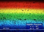 spectrum of star doppler effect