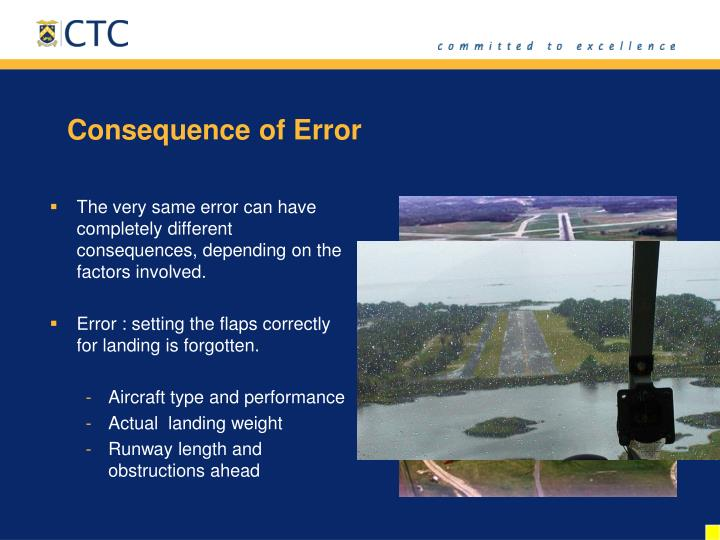 Consequence of Error