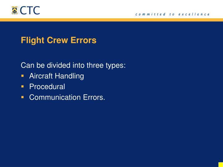 Flight Crew Errors
