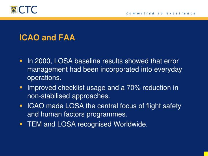 ICAO and FAA