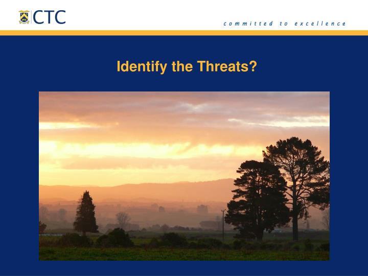 Identify the Threats?