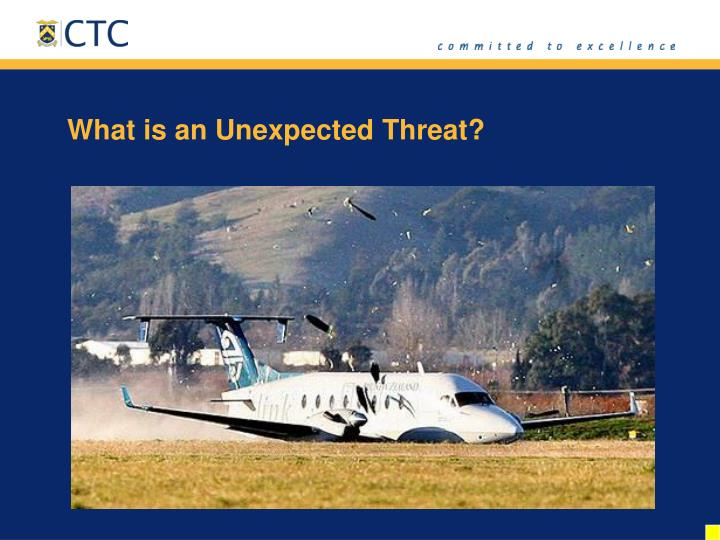 What is an Unexpected Threat?